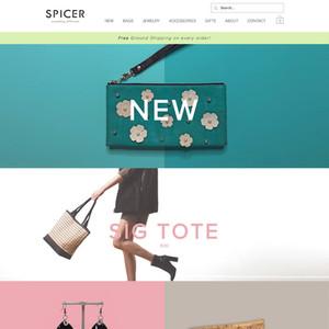 Spicer Bags E-commerce Website