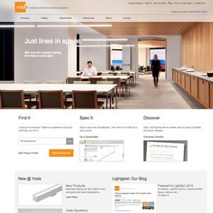Vode Lighting Website