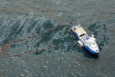 Aerial photograph oil spill