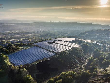 Solar Farm Drone Filming