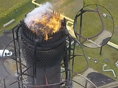 Drone flare tip inspection