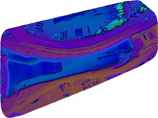 Aerial elevation mapping