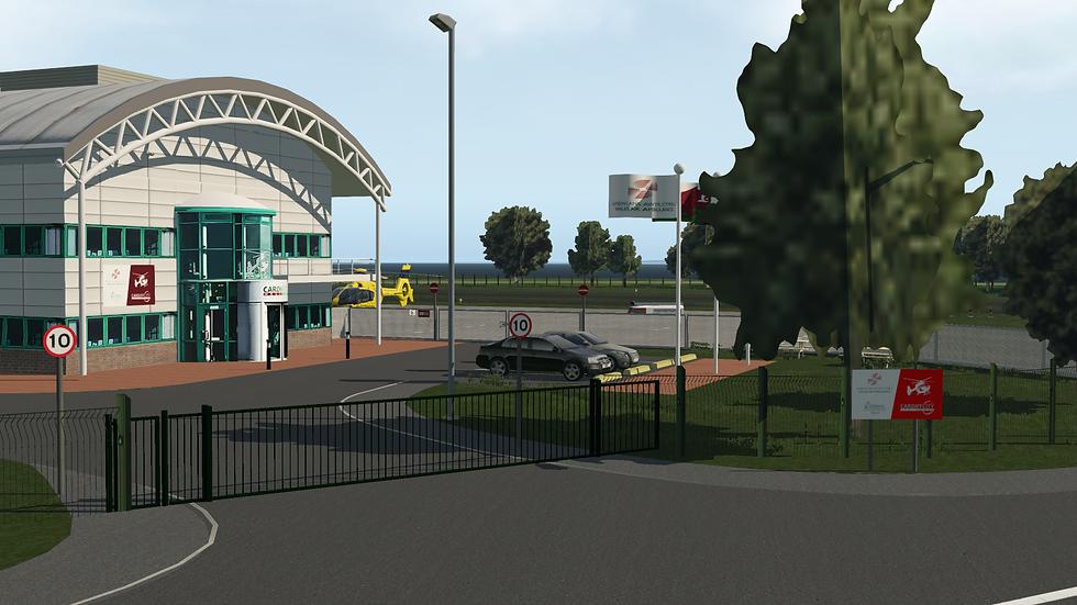 Cardiff heliport (EGFC) - Xplane 11
