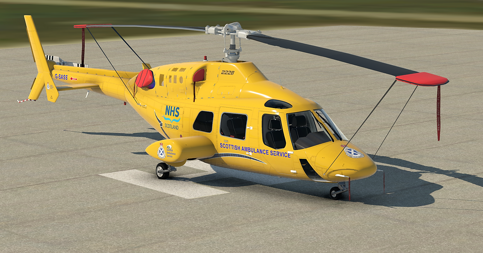 Bell 222 Scottish Air Ambulance repaint