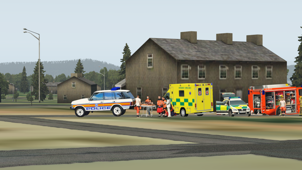 Xplane 11 -UK Emergency Service upgrade for HRM plugin