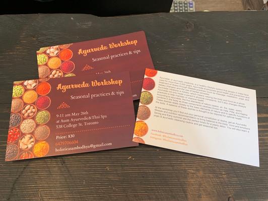 Ayurveda & Yoga workshop at Aum Ayurvedic & Thai massage, Toronto