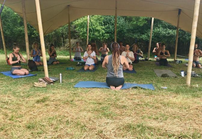 Ayurvedic yoga at Samsara Festival