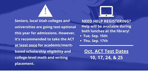 Seniors - Help Session for ACT Registration