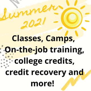 Summer 2021 Opportunities