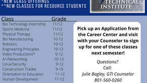 Granite Technical Institute Classes Open 2nd Semester