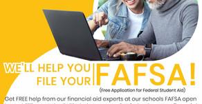 FAFSA Night -Oct 14 cancelled