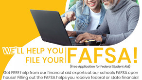 FAFSA Open House October 28th 4-8 PM CHS Library