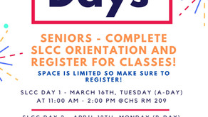 Salt Lake Community College Days: March 16th and April 12th.