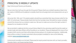 Weekly Principal's Update