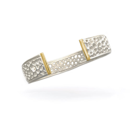 Matrix Cuff Bracelet with Gold Bars