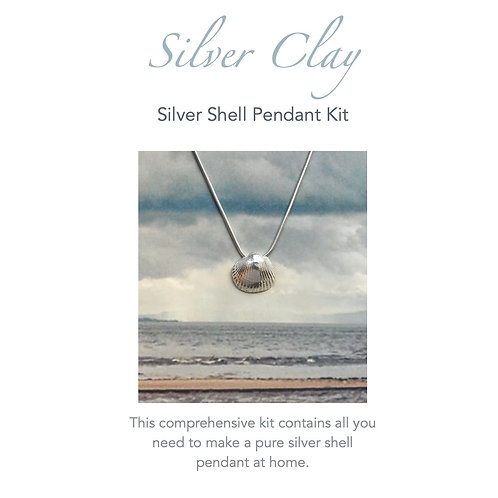 Silver Clay Sea Shell Pendant Kit