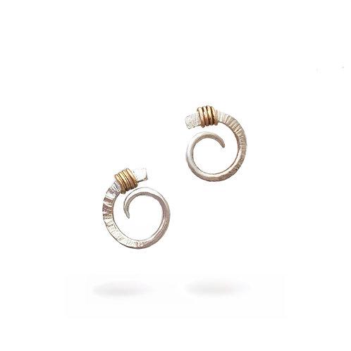 Small Scroll Stud Earrings