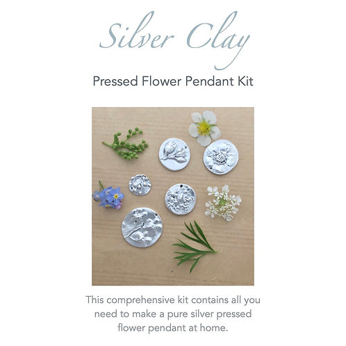 Silver Clay Pressed Flower Pendant Kit