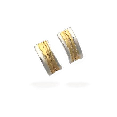 Fissure Half Hoop Earrings