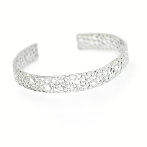 Silver Matrix Cuff Bracelet