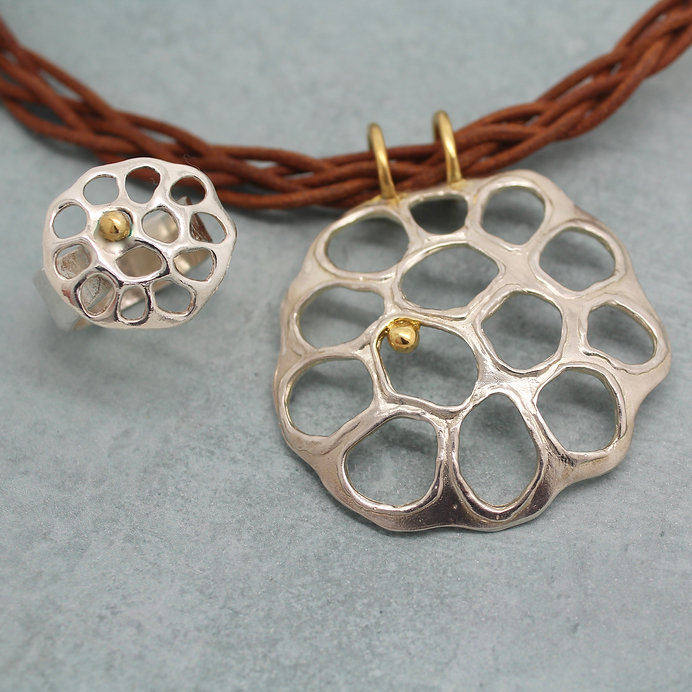 Lotus Pendant & Ring Wendy Penrose Jewel