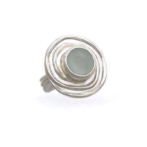 Whirlpool Sea Glass Ring