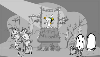 The Snoopy Show board sample