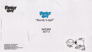 "Family Guy  ""Barely Legal"""