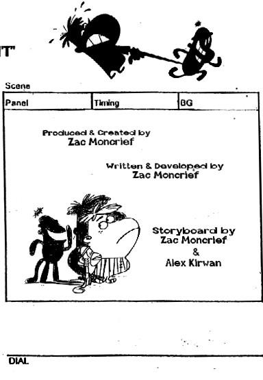 Baxter and Bananas - Sample of Storyboards