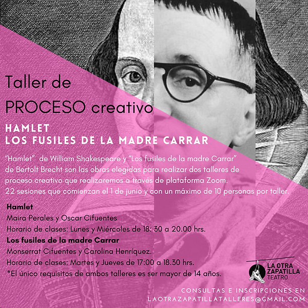 afiche HAMLET LOS FUSILES DE LA MADRE CA