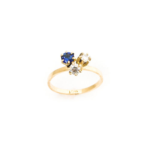 Tri-star Cluster Engagement Ring