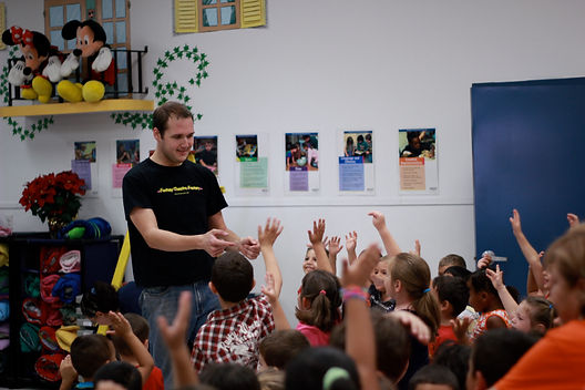 Man in a Childrens Classroom