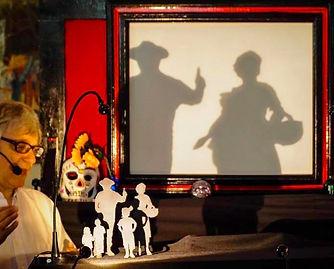 Cartoon Boy With Sock puppets