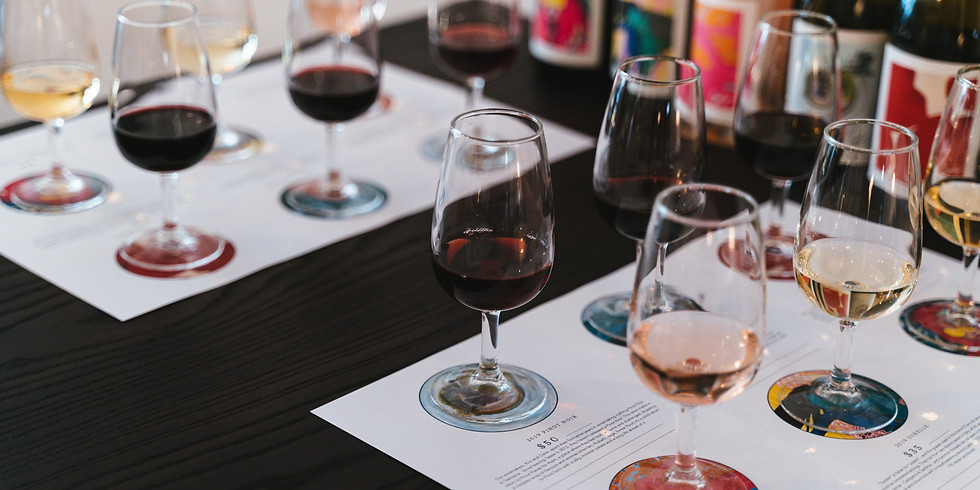 Wine Flight hosted by winemaker and artist, Kris Cush