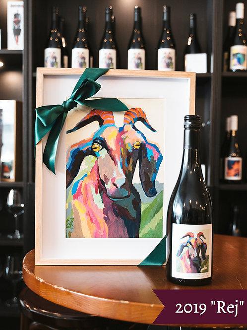 Bottle of Wine + A4 Label Print
