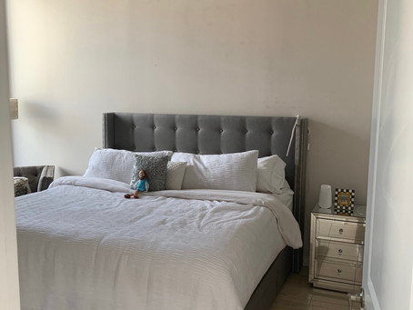 Before and After Picture of Master Bedroom