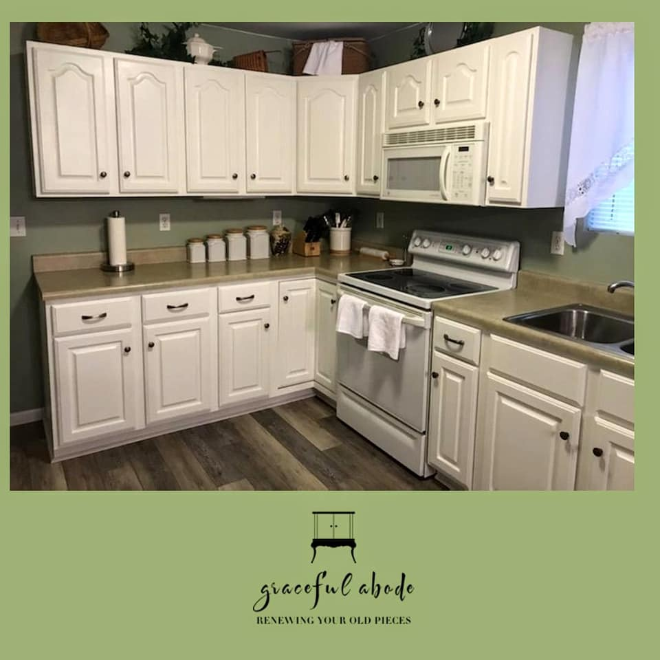 Kitchen Cabinet Makeover: Snowfall White