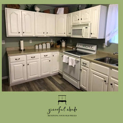 Kitchen Cabinet Makeover: Snowfall White
