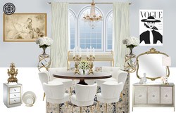 Old Hollywood Glam Dining Room
