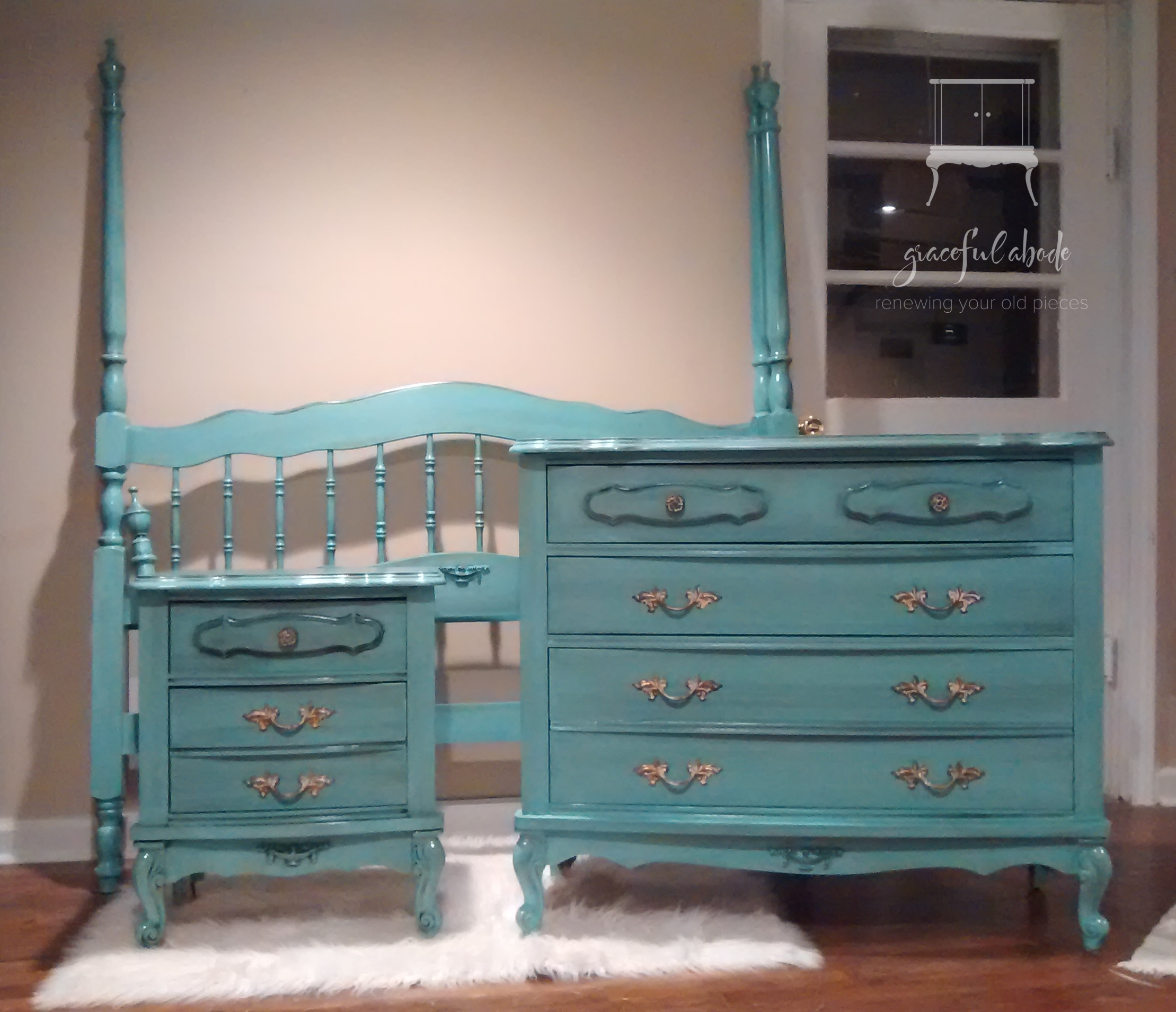 Vintage French Provincial Bedroom Se
