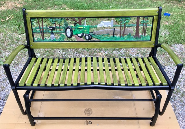 Restored John Deere Bench