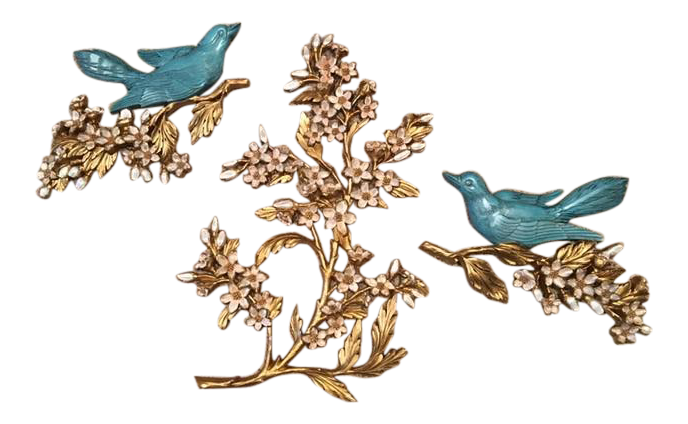 1960's Syroco Blue Birds& Dogwood Branch