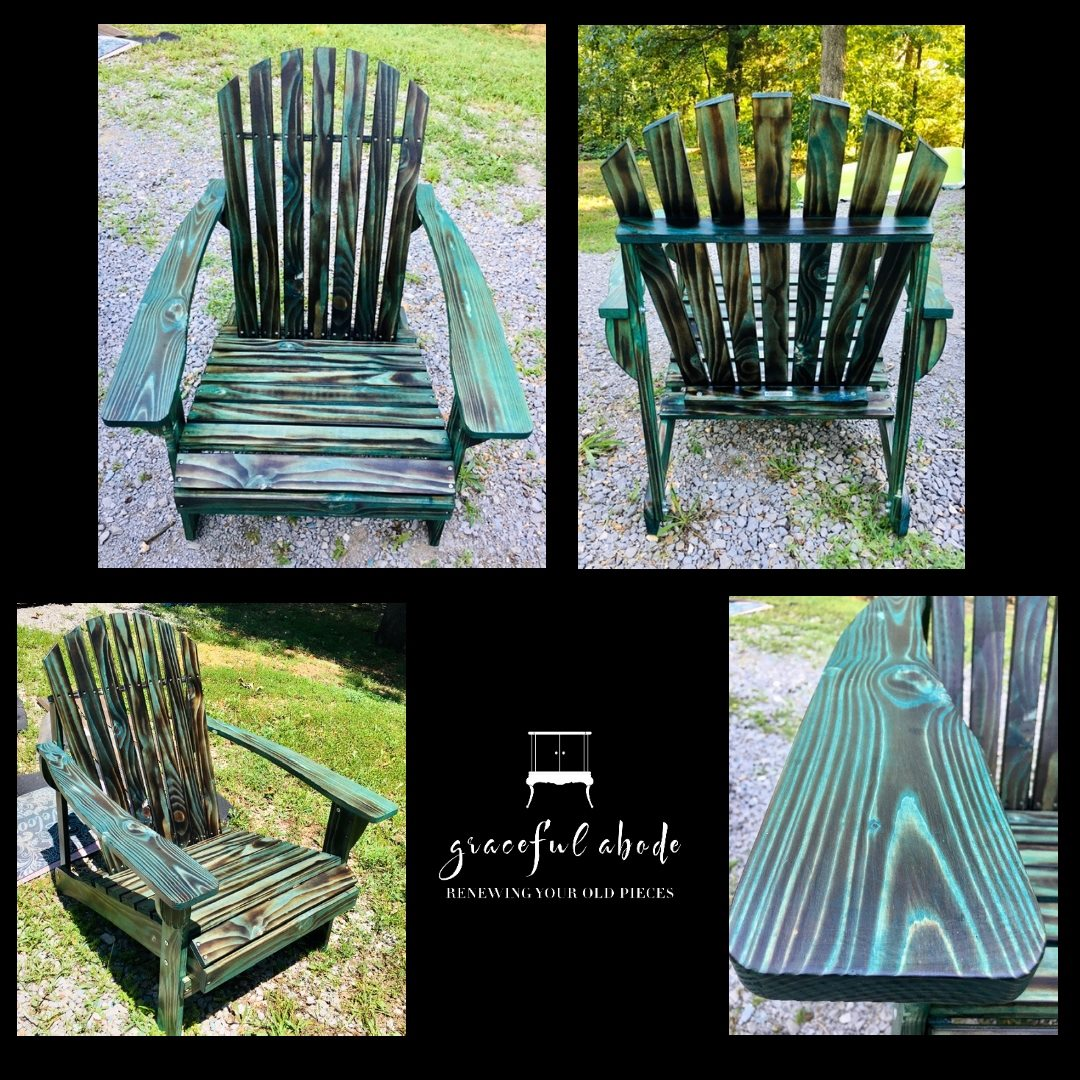 Custom torch/dye Adirondacks for sale