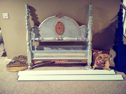 Refinished Fairytale Antique Bed