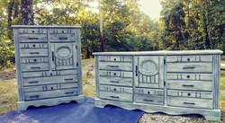 Vintage Dresser & Chest Set