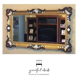 Hand painted Victorian Mirror