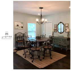 French Country Coastal Dining Room Design