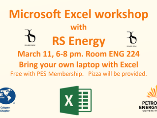 Excel Workshop with RS Energy