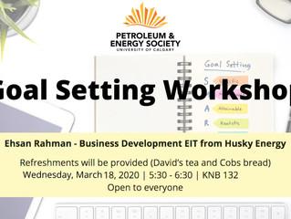 PES | Goal Setting Workshop (CANCELLED)