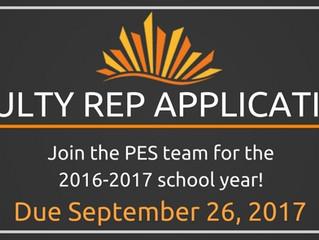 Faculty Representative Applications